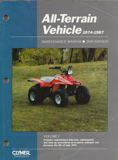 Clymer ATV VOLUME 1 SERVICE MAINTENANCE MANUAL 1978-1987 (ATV1-2)