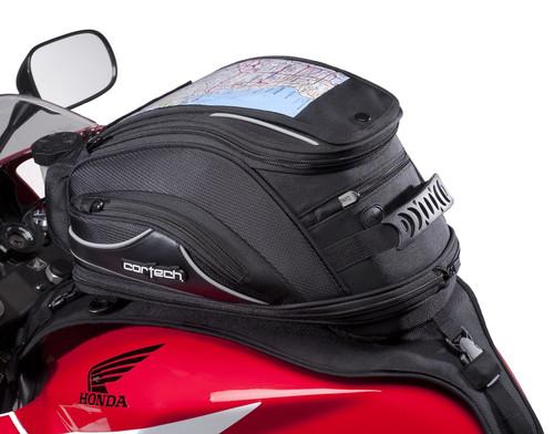 Cortech Super 2.0 18-Liter Tank Bag Strap Mount Black (8230-0605-18)