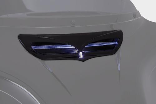 Ciro LED Front Fairing Vent Trim Black w/LED (40012)