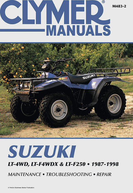 Clymer Repair Manual 87-98 Suzuki King Quad LTF4WDX/LT4WD/LTF250 Runner (M483-2)