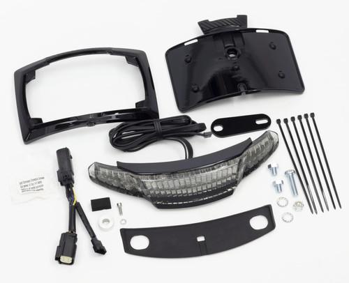 Ciro Latitude Taillight w/License Plate Holder Black (40054)