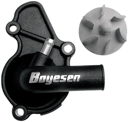 Boyesen Supercooler Water Pump Cover & Impeller Kit Black (WPK-08B)