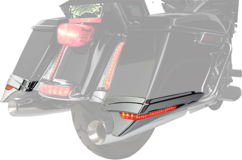 Ciro LED Saddlebag Extensions Chrome (40102)