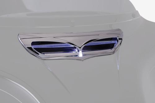 Ciro LED Front Fairing Vent Trim Chrome w/LED (40010)
