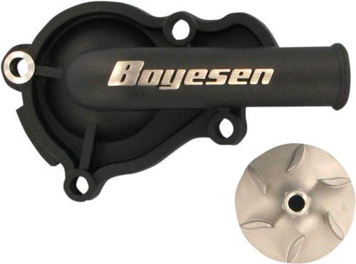 Boyesen Supercooler Water Pump Cover & Impeller Kit Black (WPK-06B)