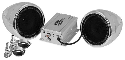 Boss 600 Watt Bluetooth Stereo All Terrain Sound System Chrome (MC420B)