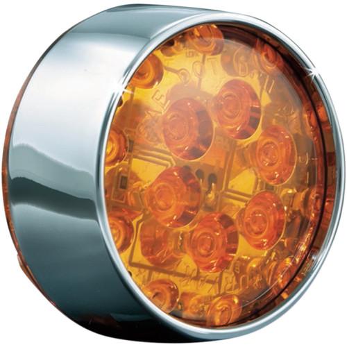 Kuryakyn LED Front Turn Signal Inserts Amber (Bullet) (5442)