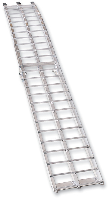 "Moose Racing Arched Aluminum Folding Ramp 12"" W X 90"" L Silver (3910-0017)"
