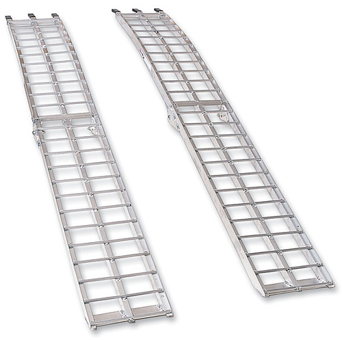 Moose Racing Arched Aluminum ATV Folding Ramps Silver (MUDRAMP1290P)