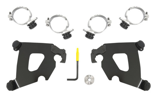 Memphis Shades Trigger-Lock Mount Kit for Cafe Fairings Black (MEB1995)
