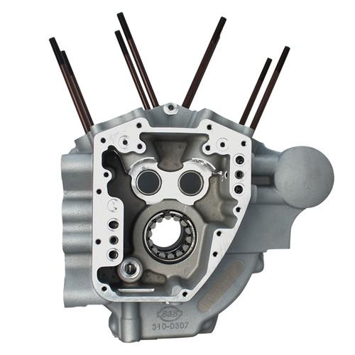 S&S Twin Cam Engine Cases Silver Big Bore (310-0368)