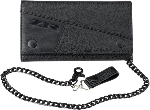 Z1R Long Tri-Fold Wallet w/Bike Chain & Clasp