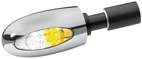 Kuryakyn BL 1000 Chrome Bar-End Turn Signal with Amber/White (2556)