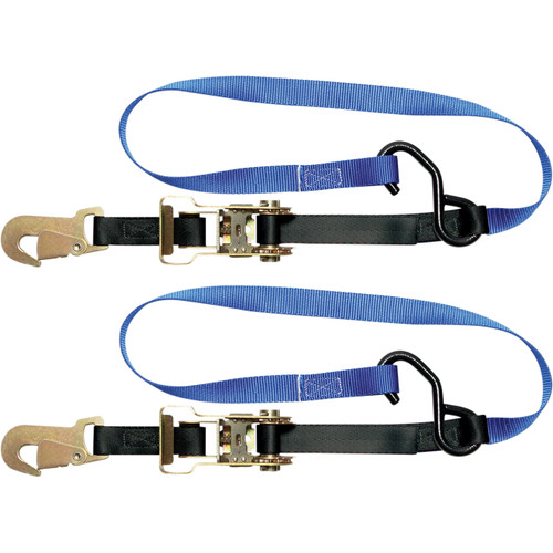 """Steadymate Cinchtite-5 1""""x6' Ratchet Tie Downs w/Snap Hooks & Soft Loops (15469)"""
