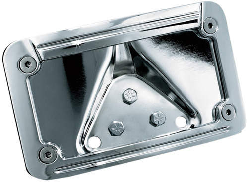 Kuryakyn Chrome Horizontal Rear Curved License Plate Mount (3138)