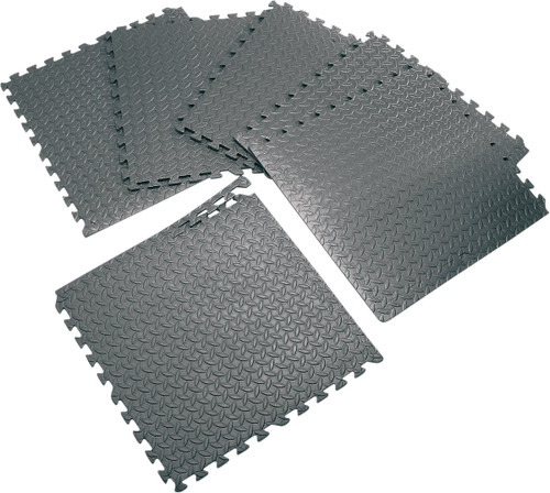 Performance Tool 6pc Interlocking Anti-Fatigue Floor Mats Black (W88989)
