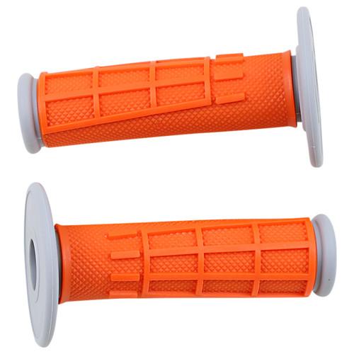 Moose Racing Comp Diamond Orange 1/2 Waffle MX Offroad Grips (0630-2665)