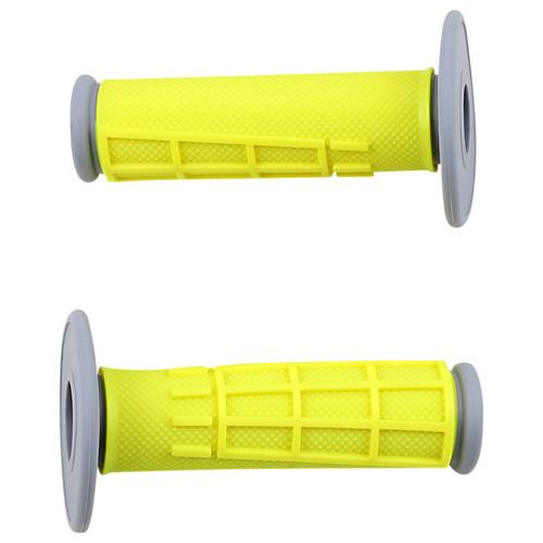 Moose Racing Comp Diamond Yellow 1/2 Waffle MX Offroad Grips (0630-2667)
