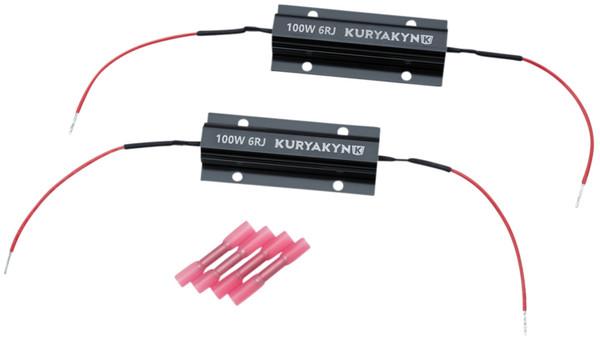 Kuryakyn 100 Watt - 6 Ohm Black Anodized Aluminum Load Equalizers (2992)