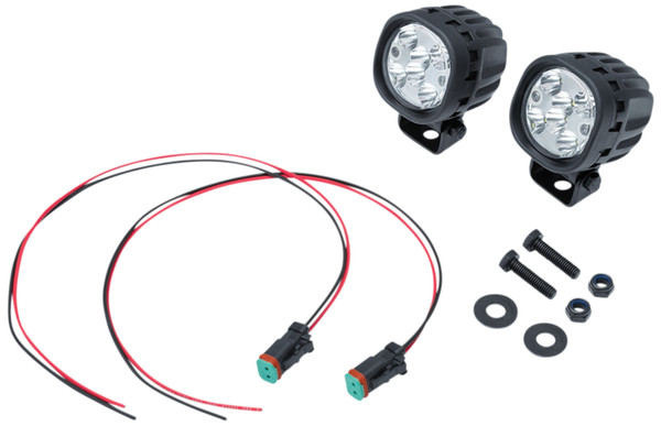 Kuryakyn Lodestar 750L Black Spot Beam Driving Lights w/ White LEDs (3008)