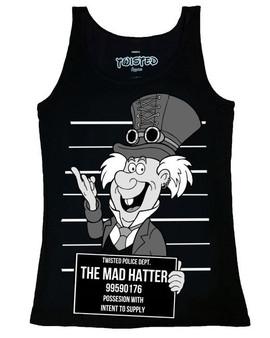 Twisted Alternative Steampunk Mad Hatter Mug Shot Vest Top