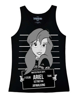 Twisted Ariel Little Mermaid Mugshot Vest Top