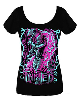 Twisted Tinman Scoop Neck T Shirt