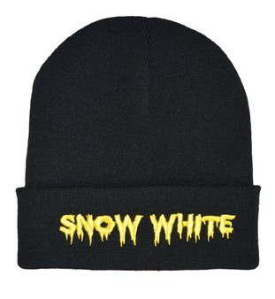 Alternative horror snow white beanie hat