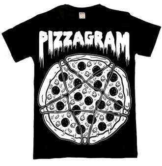 Pizzagram Pentgram T Shirt