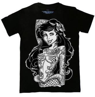 Gothic Mermaid Pinup Ariel Tattoo T Shirt