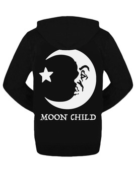 Moon Child Zipped Hoodie