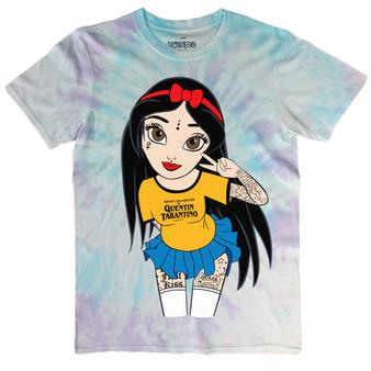 Peace & Love Tattoo Hippy Snow White Tie Dye T Shirt