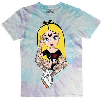 Peace & Pride Tattoo Alice Pastel Tie Dye T Shirt