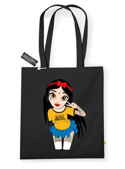 Peace & Love Hippy Snow White Tote Bag