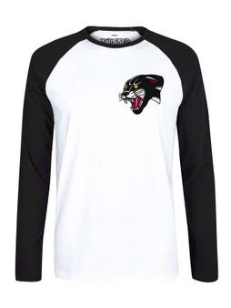 Traditional PANTHER Tattoo Pocket Print  Raglan Baseball T shirt