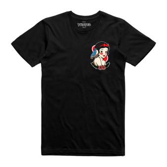 Snow White Traditional Tattoo Pocket Print T Shirt