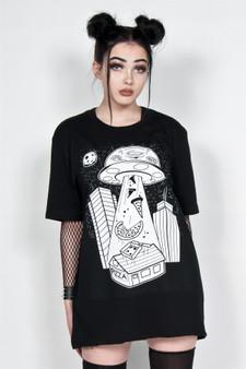 Alien Pizza Abduction T Shirt