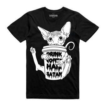 Drink Coffee, Hail Satan T Shirt