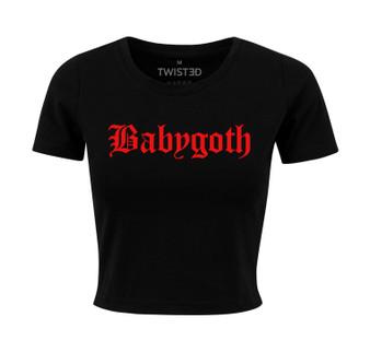 Baby Goth Crop Top