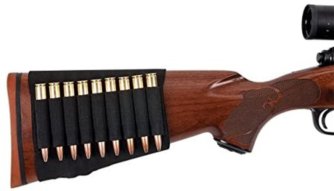 Allen Rifle Buttstock Shell Cartridge Holder Fits Most Hunting Rifles Army Surplus 1