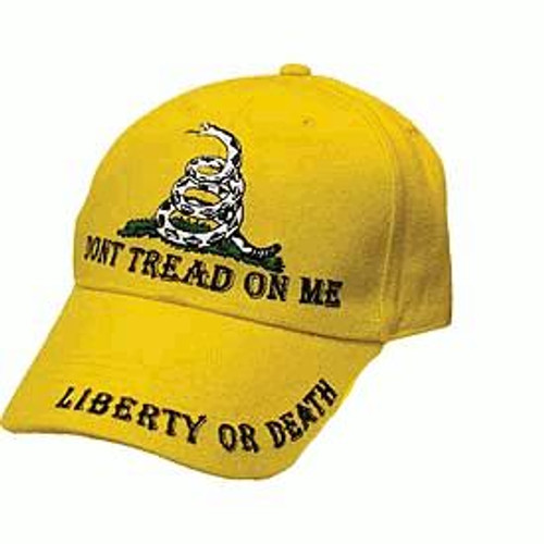 Cap Unisex Don't Tread On Me - Liberty or Death Color- Yellow
