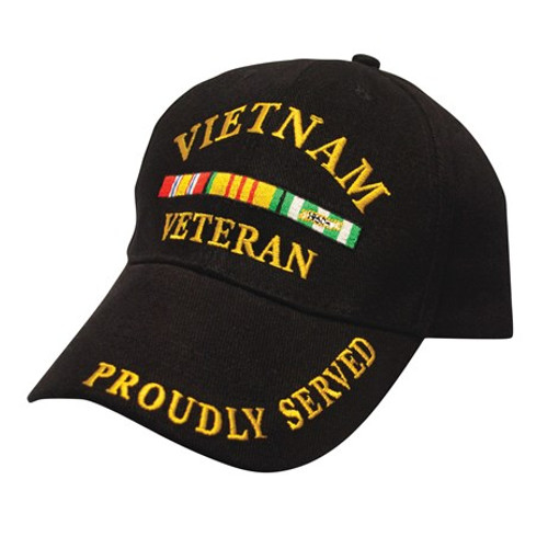 Vietnam Veteran Proudly Served Embroidered Baseball Style Cap