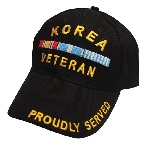 Korea Veteran with Ribbons Low Profile Ball Cap black