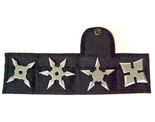 Set of Four Stars with Nylon Belt Sheath