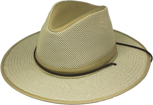 Henschel Hat Company Aussie Breezer Cotton-Mesh Hat Khaki