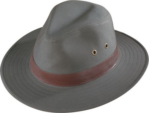 Henschel Hat Company Outback Crushable Canvas Hat with Leather Band