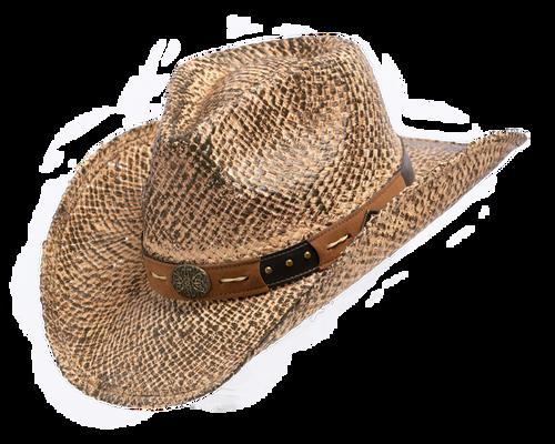 Henschel Hat Company Brown Straw Western Hat
