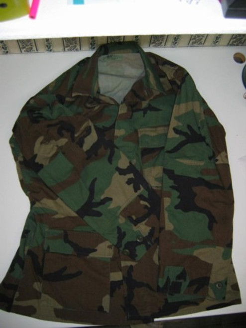 Woodland Camo Ripstop Cotton BDU Shirt Large Regular