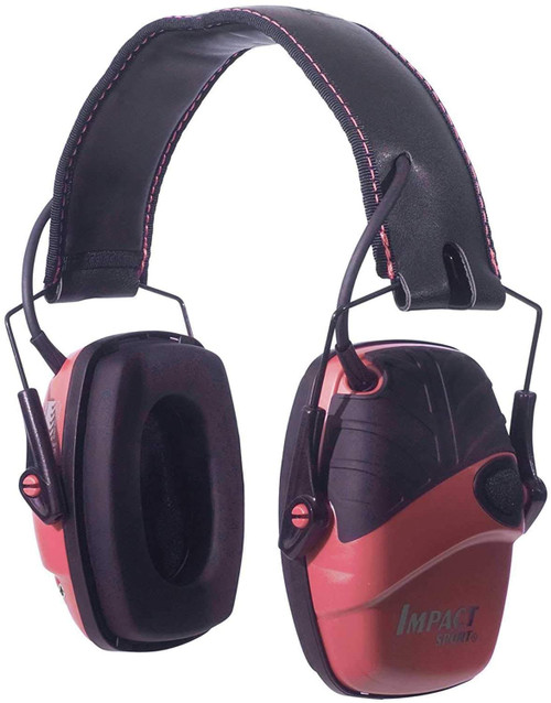 Howard Leight R-02523 by Honeywell Impact Sport Sound Amplification Electronic Shooting Earmuff, Pink