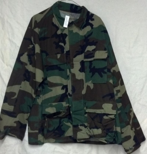 Woodland Camo Nyco BDU Shirt Medium Regular
